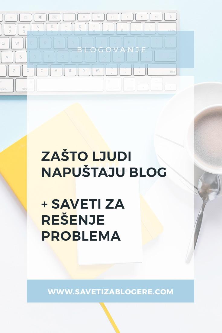 Zašto ljudi napuštaju blog