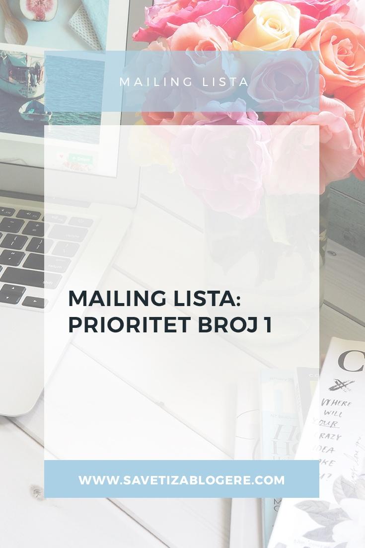 Mailing lista prioritet broj 1