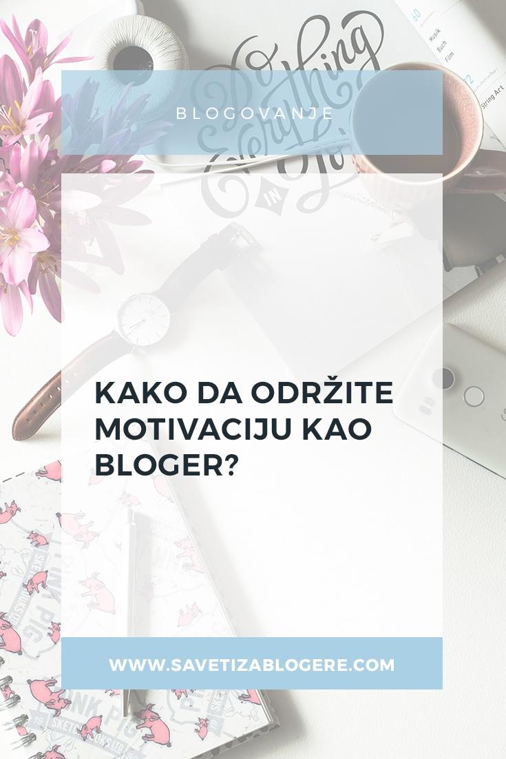 održite motivaciju